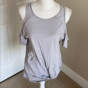 Nordstrom gray cut out should tee